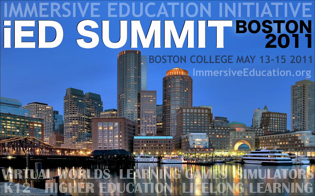 iED 2011 : IMMERSIVE EDUCATION INITIATIVE BOSTON SUMMIT