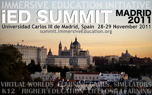 Immersive Education : iED Summit : 2011 Madrid